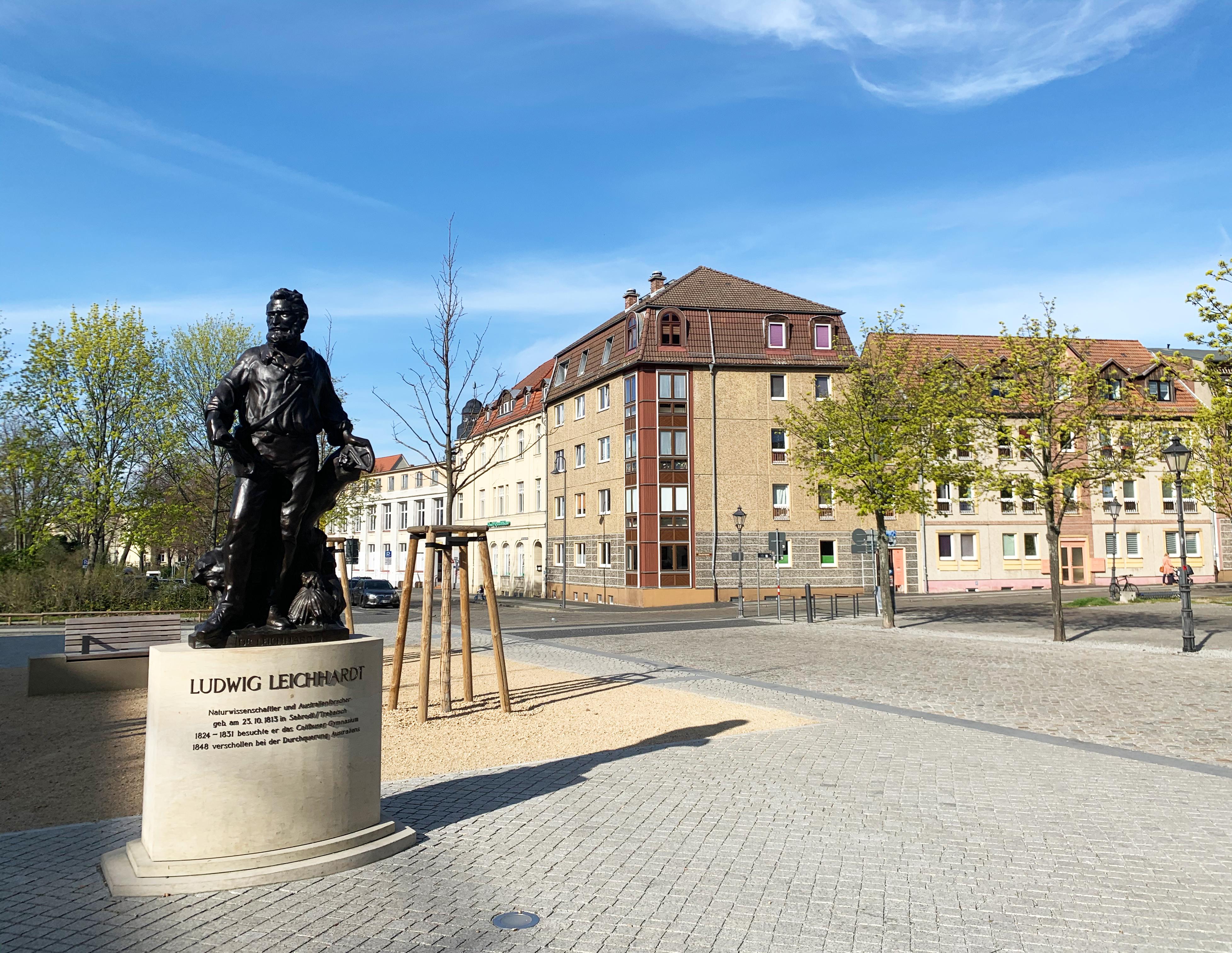 Leichhardt-Denkmal am Oberkirchplatz